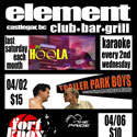element nightclub print ad
